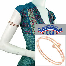 USA Made Upper Arm Bracelet Rose Gold Tone Metal Band Armlet Spiral Sz Large XL