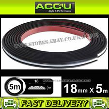 18mm 5M Chrome Black Car Van Body Bumper Trim Rubber Moulding Styling Strip DT04