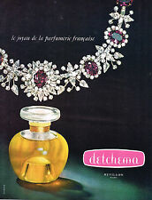 PUBLICITE ADVERTISING  1965   REVILLON   parfum  DETCHEMA