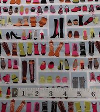 Boots Fabric,fat quarters,100% cotton,Timeless Treasures multi boot design C2821