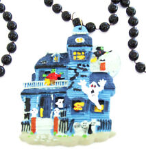 Haunted House Halloween Bead Necklace Monster Mardi Gras Necklace Beads A7