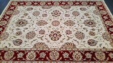 CHINESE,TRADITIONAL,FLORAL,90% WOOL RUG, 227 x 162CM,IVORY,BURGUNDY,GREEN,BEIGE,