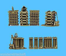 Roco Minitanks H0 550 SET ARTILLERIE-MUNITION Bundeswehr HO 1:87 Herpa 742009