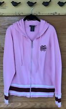 Ladies Harley-Davidson Size XL Hoodie Pink/White/Maroon Zipper Front Med Weight