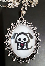 Skelanimals DAX Antique Silver Pendant Necklace Goth Steampunk Dog Doggy Puppy