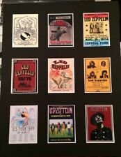 """LED ZEPPELIN RETRO TOUR POSTERS 14"""" BY 11"""" PICTURE MOUNTED READY TO FRAME"""