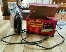 VINTAGE SUNBEAM Steam or Dry IRON with Great Box - Laundry Room Decor