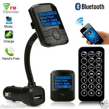 Wireless Bluetooth FM Transmitter USB Charger Car Kit MP3 Music Handsfree Remote