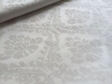 Baumwolle Satin Stoff Baumwollsatin Damastmuster Weiß br. 150 cm Meterware