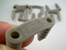 Mk1 Cortina Engine Bay Loom Clips x 8 (Ford Logo) in Grey GT Lotus