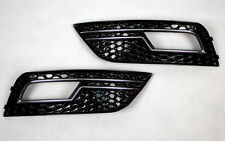 GRILL FOG LIGHT BLINDS For AUDI A4 B8 8K SALOON AVANT BLACK CHROME