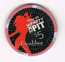 Las Vegas Excalibur Play at the Party Pit $5 Casino Chip