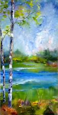 Landscape Oil Painting,Kathy Clouse Painting,Wall Decor,Gift Idea, Wisconsin Art