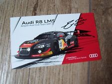 Photo signée  / Signed Photo Card Ekstrom / Fassler / Sandstrom AUDI 2015 //