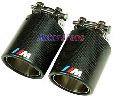///M Sport Carbon Fiber Quad Exhaust Muffler Tips 1pair FOR BMW 1 3 5 7 SERIES