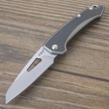Sanrenmu 4079SUX-FHK Quality Steel Mini Pocket Folding Knife carbon fiber inlays