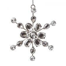 Beautiful Metal & Crystal Snowflake Hanging Christmas Tree Decoration 26384