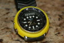seiko h558 YELLOW  DURABLE PLASTIC shroud + 3 screws digital analog diver tuna