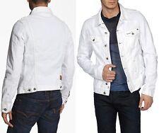 $278 Diesel sz L Elshar White Denim Jacket Coat Men Industry Gift NWT