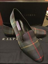 Ralph Lauren Purple Label Womens Tartan Slippers Shoes Sz 6B Made In Italy New !