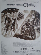 Dunlop serves cycling in peace and war 1941 old advert tyres