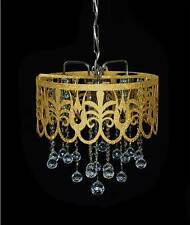 Lustre oriental avec cristaux au plomb veritables argent or