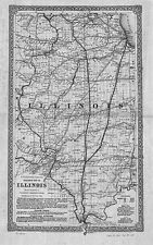 1861 IL MAP Burr Ridge Cahokia Calumet City Park Canton Carbondale Carol Stream