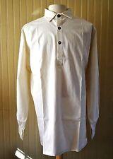 Muslin Shirt - Off White w/Pewter Buttons Pointed Collar - XXLarge - Civil War