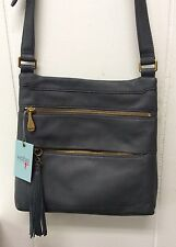 Hobo Bags Miles Genuine Soft Leather Crossbody Pewter Gray Purse New with Tags