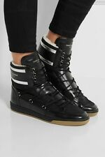 YSL Saint Laurent Shearling-lined High Top Leather Sneaker Sz 10 / Retail $795