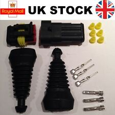 3 Pin Way Superseal TYCO AMP Waterproof Connector Electrical Kit and Rubber Boot