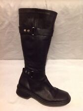 Nine West Black Knee High Leather Boots Size 38