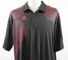 NEW adidas climacool Golf Polo S/S Shirt MENS XL Black Red Polyester Z78716