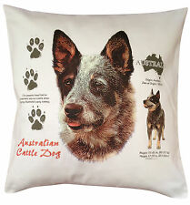 Australian Cattle Dog History Breed of Dog Cotton Cushion Cover - Perfect Gift