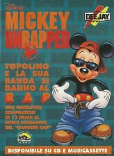X2752 Mickey Unrapped - Radio DeeJay - Pubblicità 1995 - Advertising
