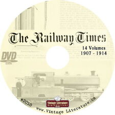 Railway Times Journal { 14 Railroad History Volumes} on DVD