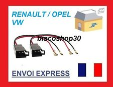 Renault Espace MK1 1993 Speaker Adaptor Plug Leads Connector Cable Pair