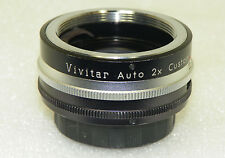 VIVITAR AUTO 2X Custom TELE-CONVERTER Model 2X-1 for PENTAX M42 SCREW MOUNT