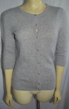 Wendy B.  100% Cashmere Sweater Cardigan grey  Size Small