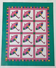 Patty's Parasol LAP QUILT PATTERN by Sue Bouchard Quilt in a Day 47 x 60 inches