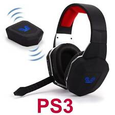 Wireless Gaming Stereo Headset for PS3 Playstation 3 Game Sound Chat NEW