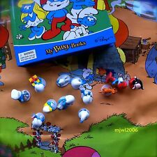 THE SMURFS Storybook 12 Figurine Set Playmat Hardcover Playset Peyo My Busy Book