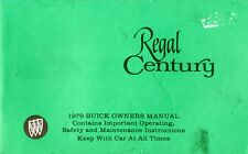 1979 BUICK REGAL CENTURY INSTRUCTION BOOK OWNER'S MANUAL BETRIEBSANLEITUNG