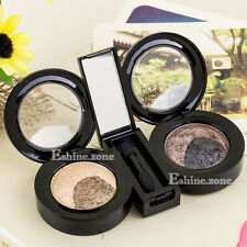 Neutral 4 Colors Warm Nude Highlight Baked Eye Shadow Palette Makeup Eyeshadow
