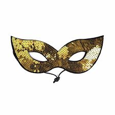 Adults / Kids Halloween Masquerade Carnival Party Sequin Cat Eye Mask - Gold
