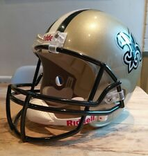 Riddell NFL New Orleans Saints Full Size Replica VSR4 American Football Helmet