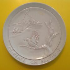 Frankoma COLLECTOR Plate Joniece Frank PEACE ON EARTH 1975 Pottery Collectible