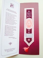 Woven Silk Bookmark Commemorating The 1977 Queens Silver Jubilee