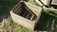 EUROPEAN VINTAGE WOODEN APPLE BOX / CRATE - SHELVES STORAGE BOOKCASE DISPLAY..