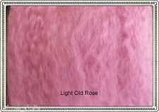 "Mohair Weft  Light Old Rose,  5"" - 6"" X 36""   Ideal for BJD dolls"